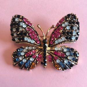 NWOT - Bestey Johnson butterfly brooch
